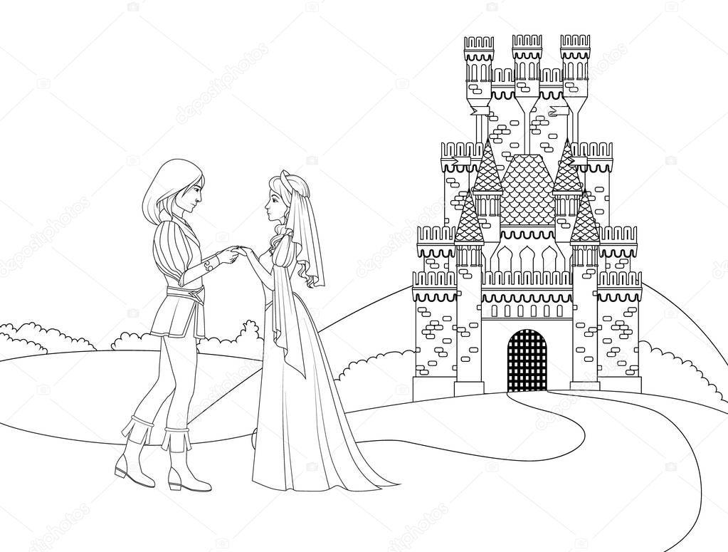 раскраска принц книжка раскраска принц и принцесса