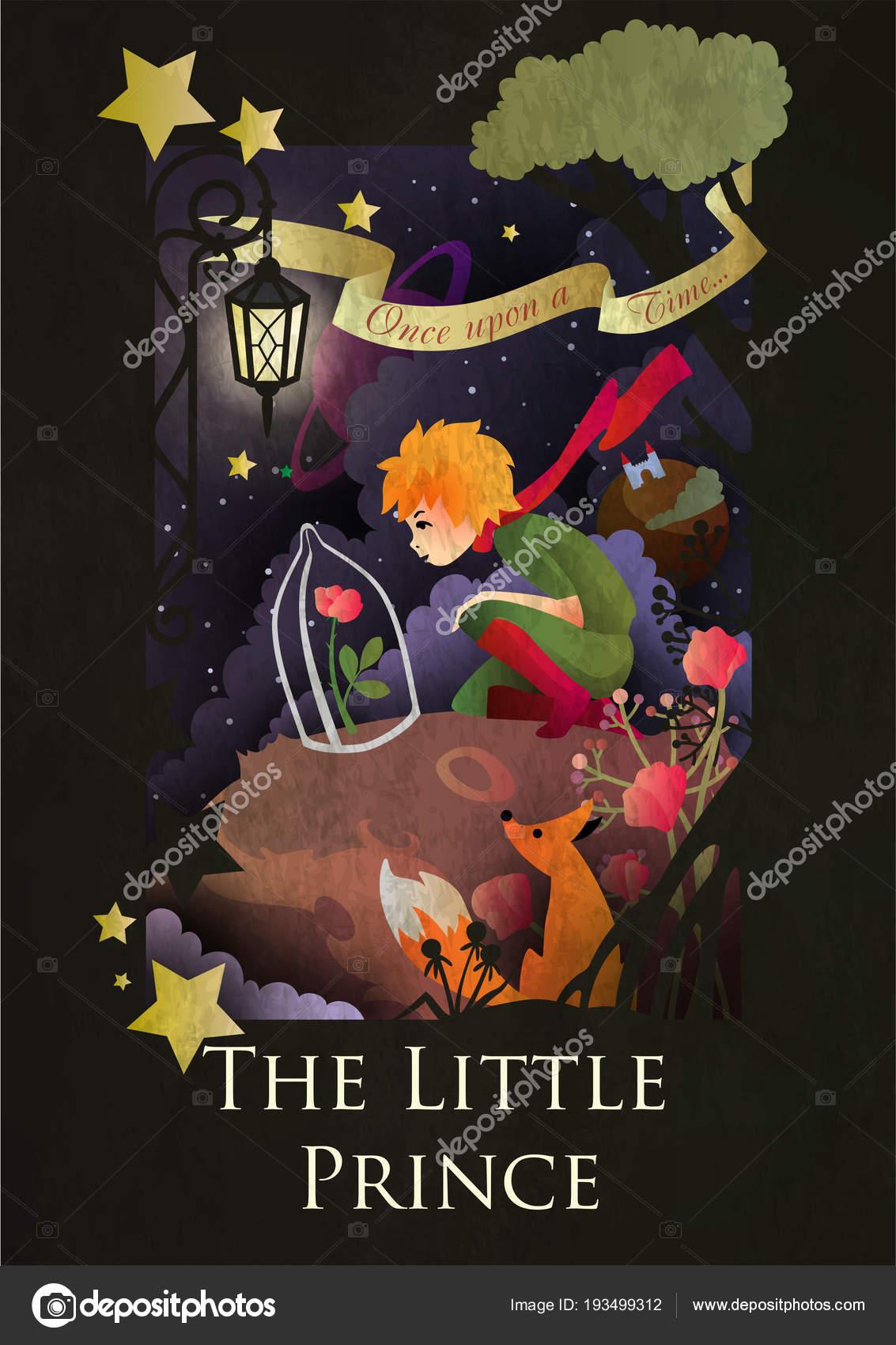 Vector Le Petit Prince El Principito La Rosa Bajo El