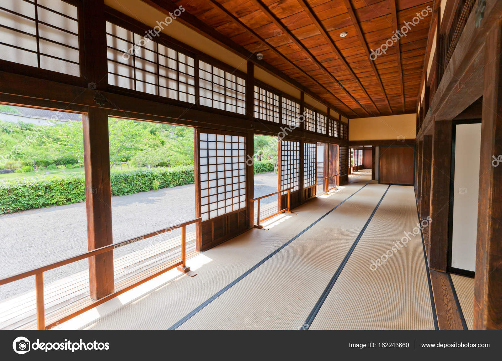 Interior Of Ninomaru Goten Of Kakegawa Castle Japan Stock