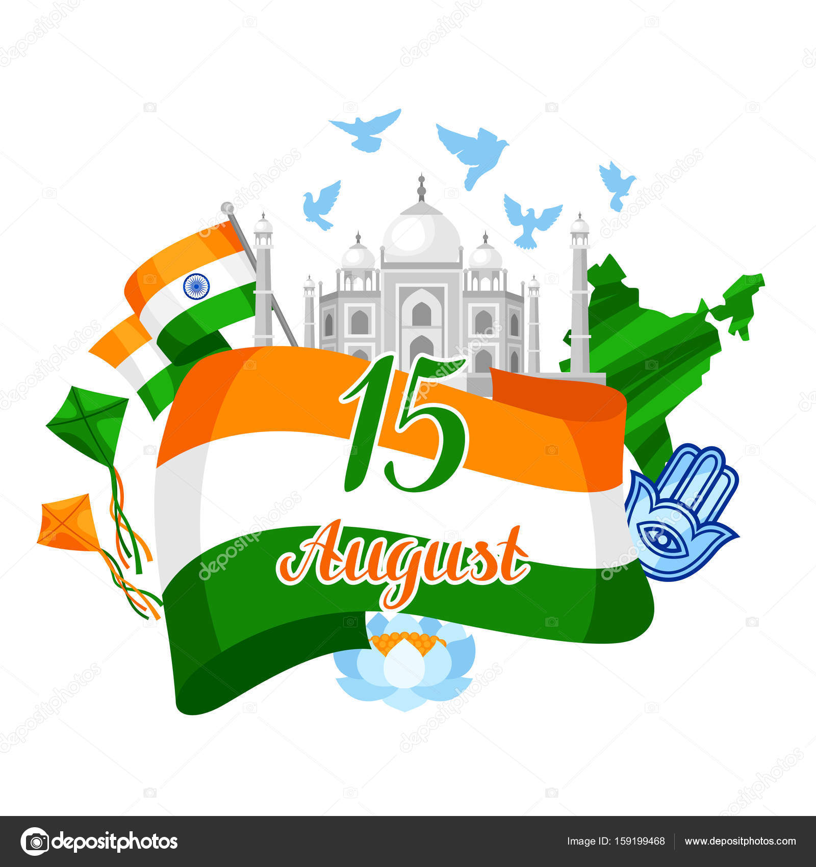 India independence day greeting card celebration 15 th of august india independence day greeting card celebration 15 th of august stock vector m4hsunfo