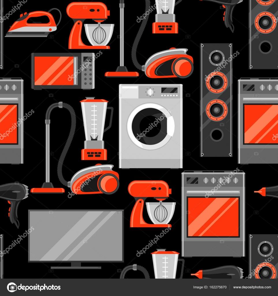 Modello senza cuciture con gli elettrodomestici articoli for Elettrodomestici per la casa