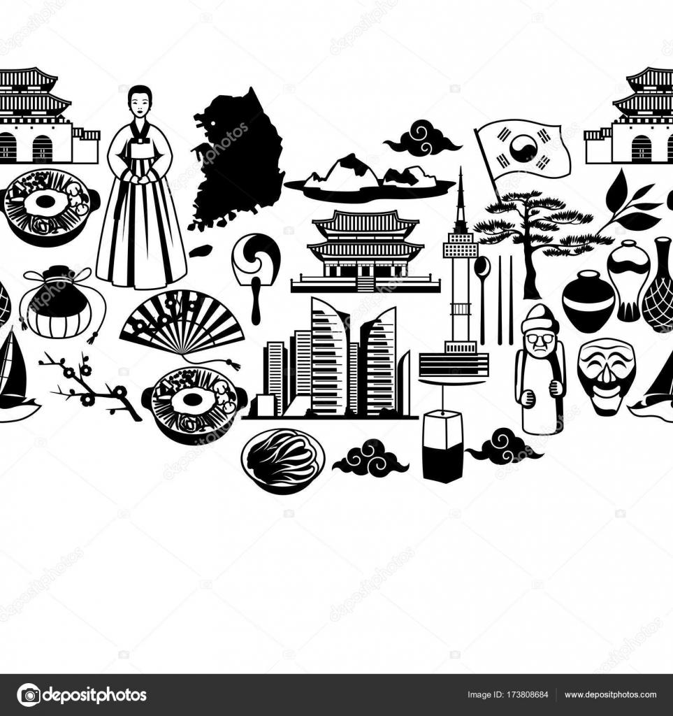 Patrones tradicionales coreanos | Patrón sin fisuras de Corea ...