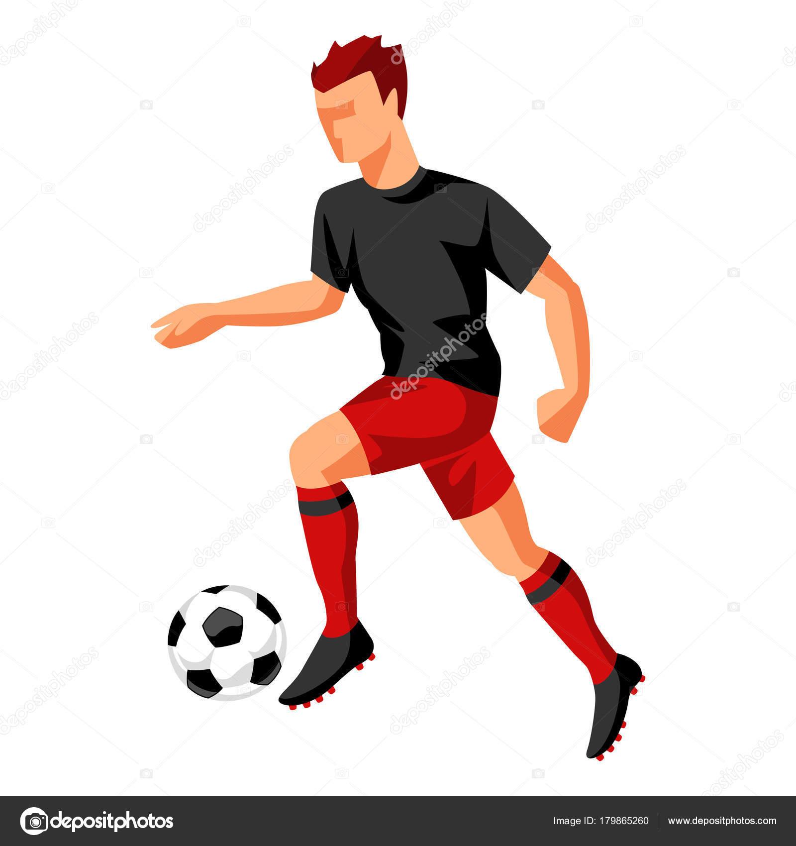 サッカー ボールを持つプレイヤースポーツ サッカー イラスト