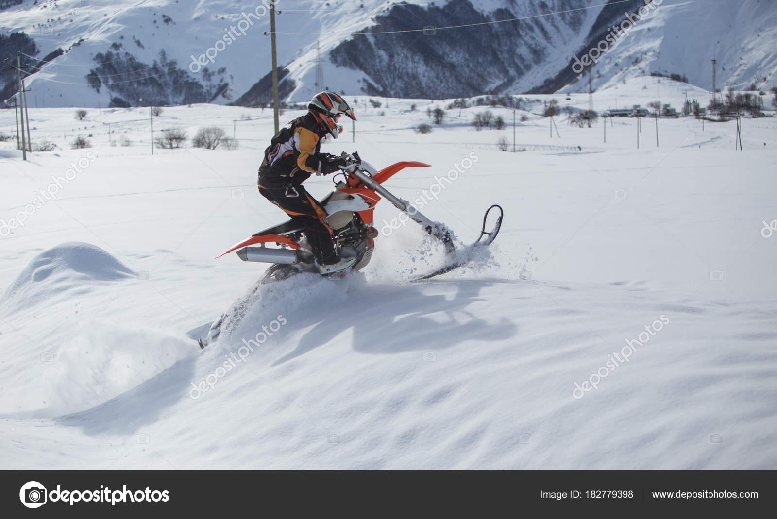 Dirt Bike Snowmobile >> Enduro Snowbike Snowmobile Journey With Dirt Bike High In