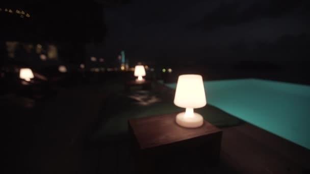 Lampe Pool Luxus, grün, Tisch, Lampe, Zimmer, Haus, außen, Haus, Licht, Architektur