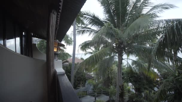 Pláž islalnd moře Thajsko domů, divoké hory příroda strom a palm