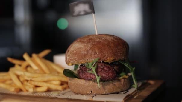 Restaurace hranolky a Burger, vaření, jídlo, maso, gril, gril, hamburger, burger, bbq, hovězí,