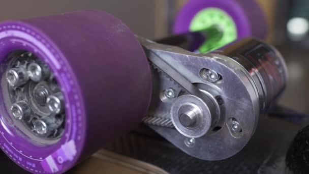 Longboard elektromos motor kerék és a gears-szerelés, szén-dioxid-board, extrém technológia