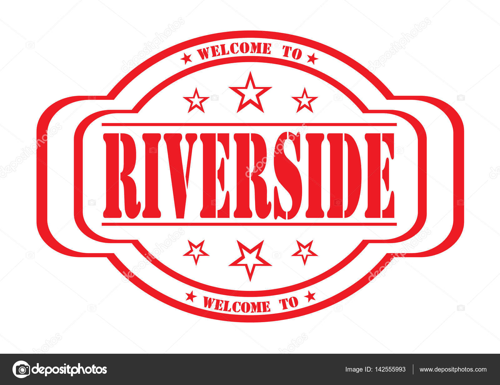Rubber Stamp With Text Welcome To Riverside On White Vector Illustration By Gusenych1982