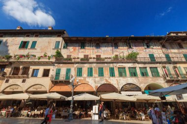 Piazza Erbe in Verona, Italy