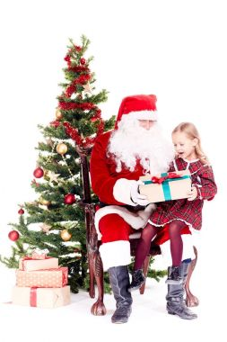 Getting gift from Santa Claus