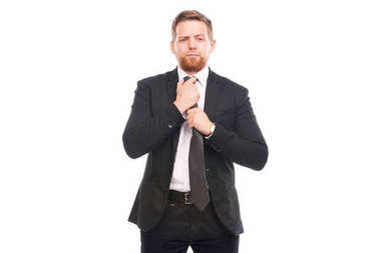 Elegant businessman with necktie