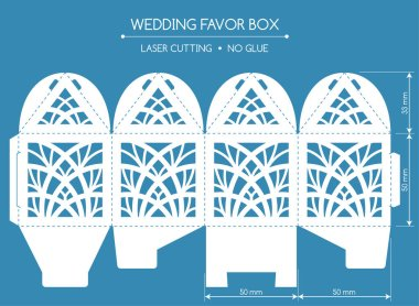 Favor box laser cut