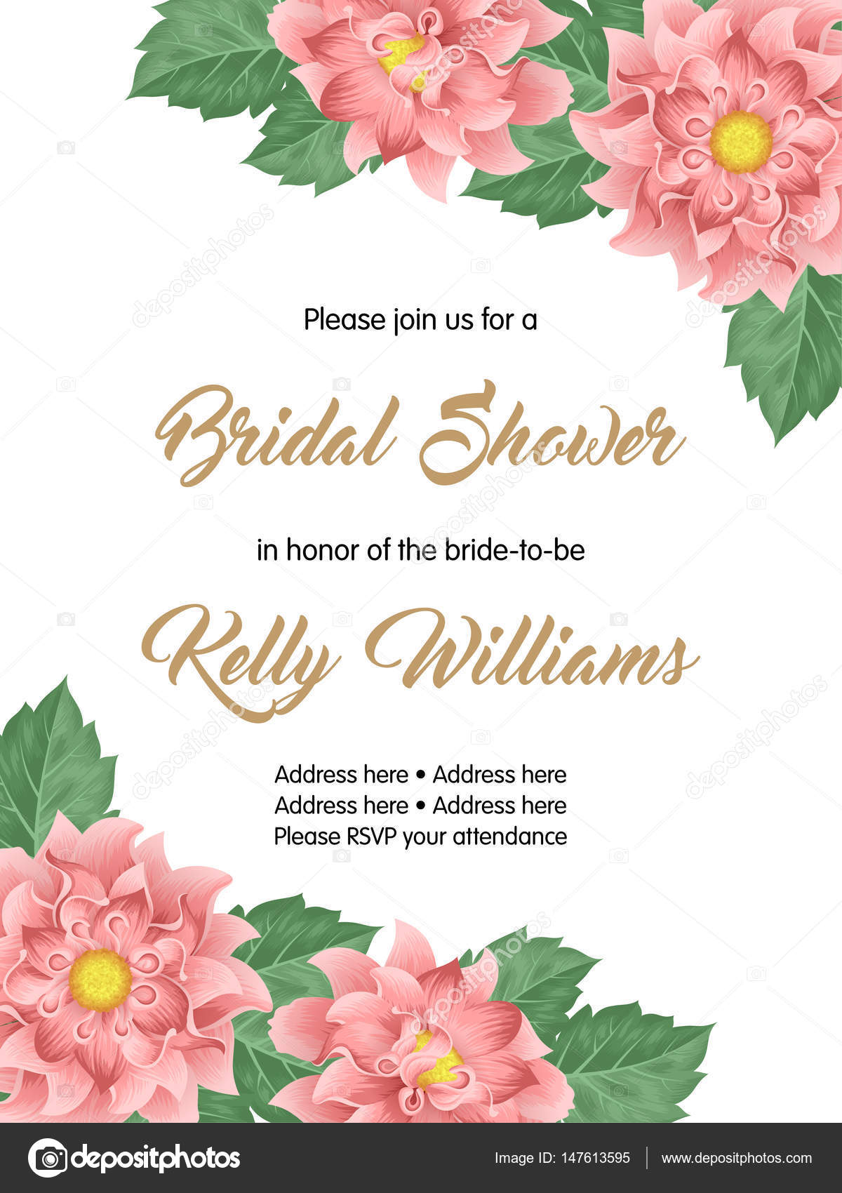 Bridal Shower Invitation Template Stock Vector NonikaStar - Bridal shower invitation template