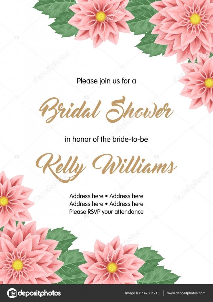 Bridal Shower Invitation Template Stock Vector C Nonikastar 147881215