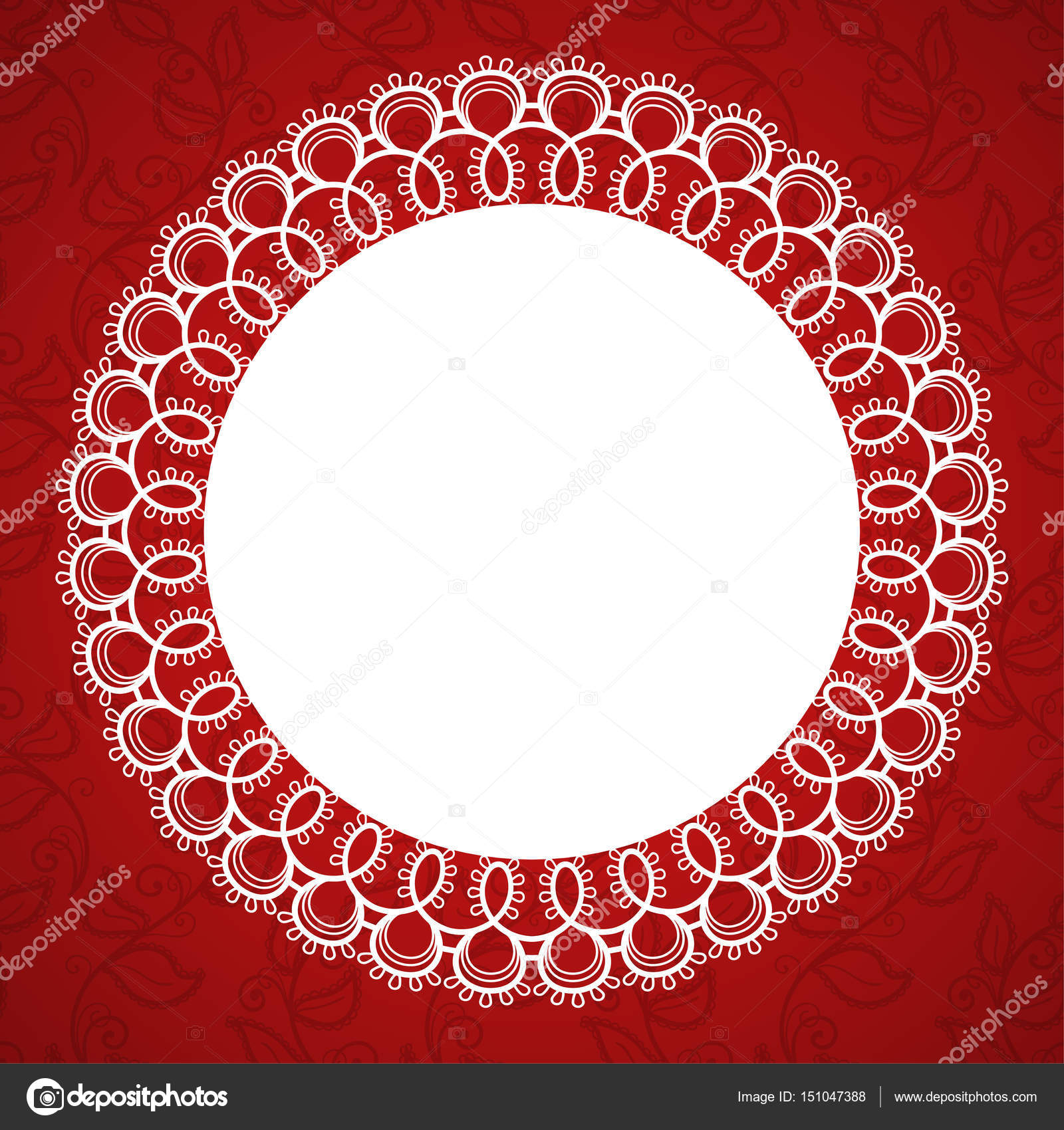 Lace round frame — Stock Vector © NonikaStar #151047388