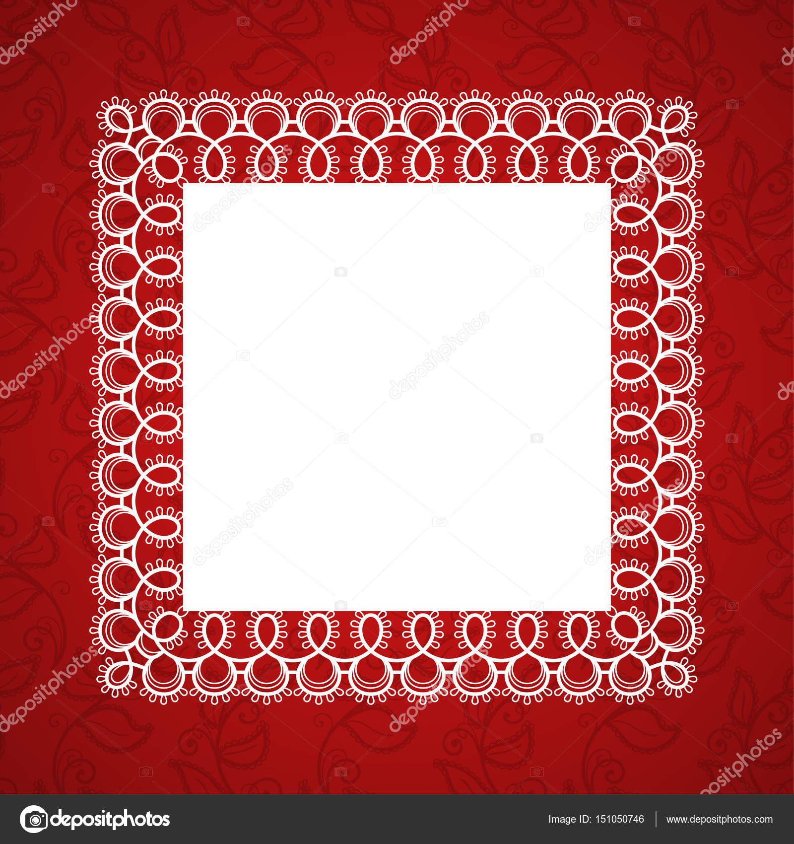Lace square frame — Stock Vector © NonikaStar #151050746