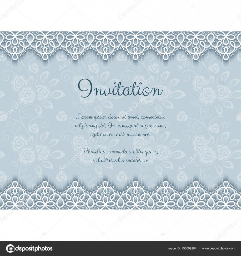 Elegante Einladung mit Spitze — Stockvektor © NonikaStar #156099264