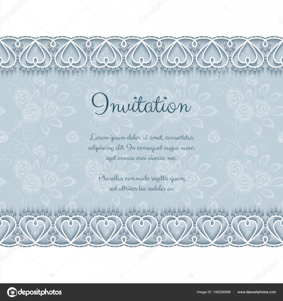 Elegante Einladung mit Spitze — Stockvektor © NonikaStar #156206996