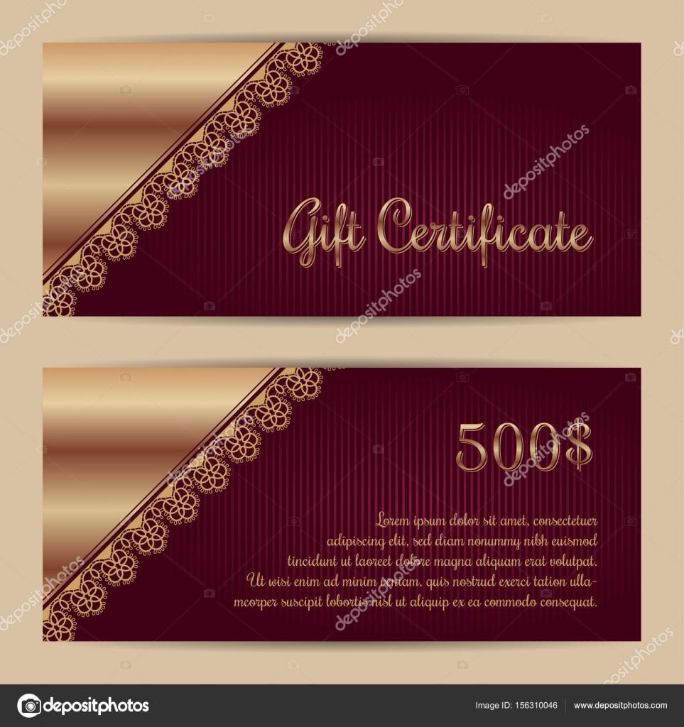 Geschenkgutschein Vorlage — Stockvektor © NonikaStar #156310046
