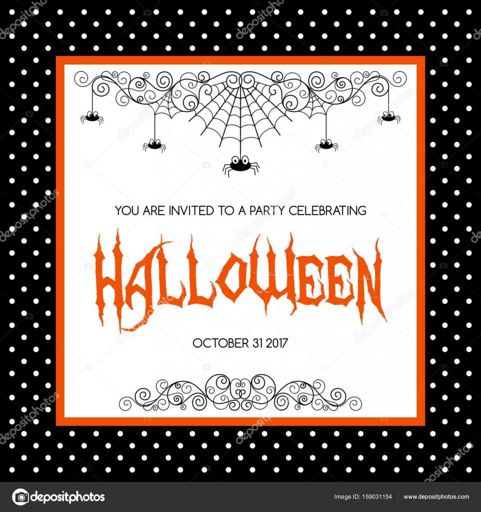 Sjabloon Halloween.Halloween Uitnodiging Sjabloon Stockvector C Nonikastar