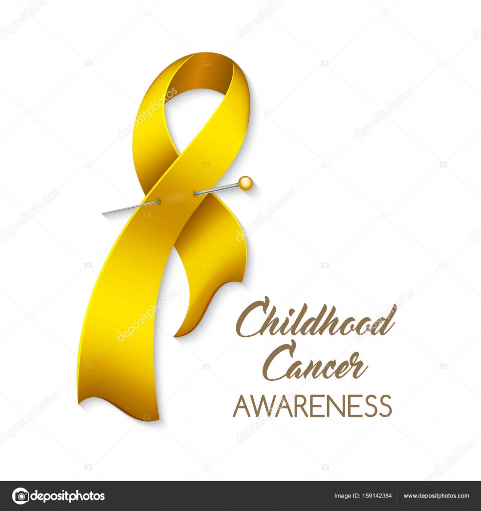 Childhood Cancer Ribbon Stock Vector Nonikastar 159142384