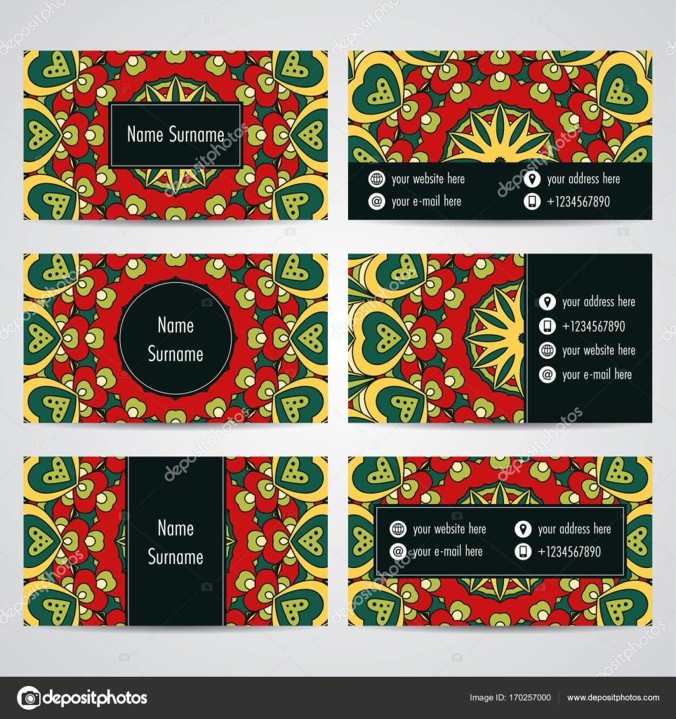 Mod le de carte de visite de mandala image vectorielle - Modele de mandala ...