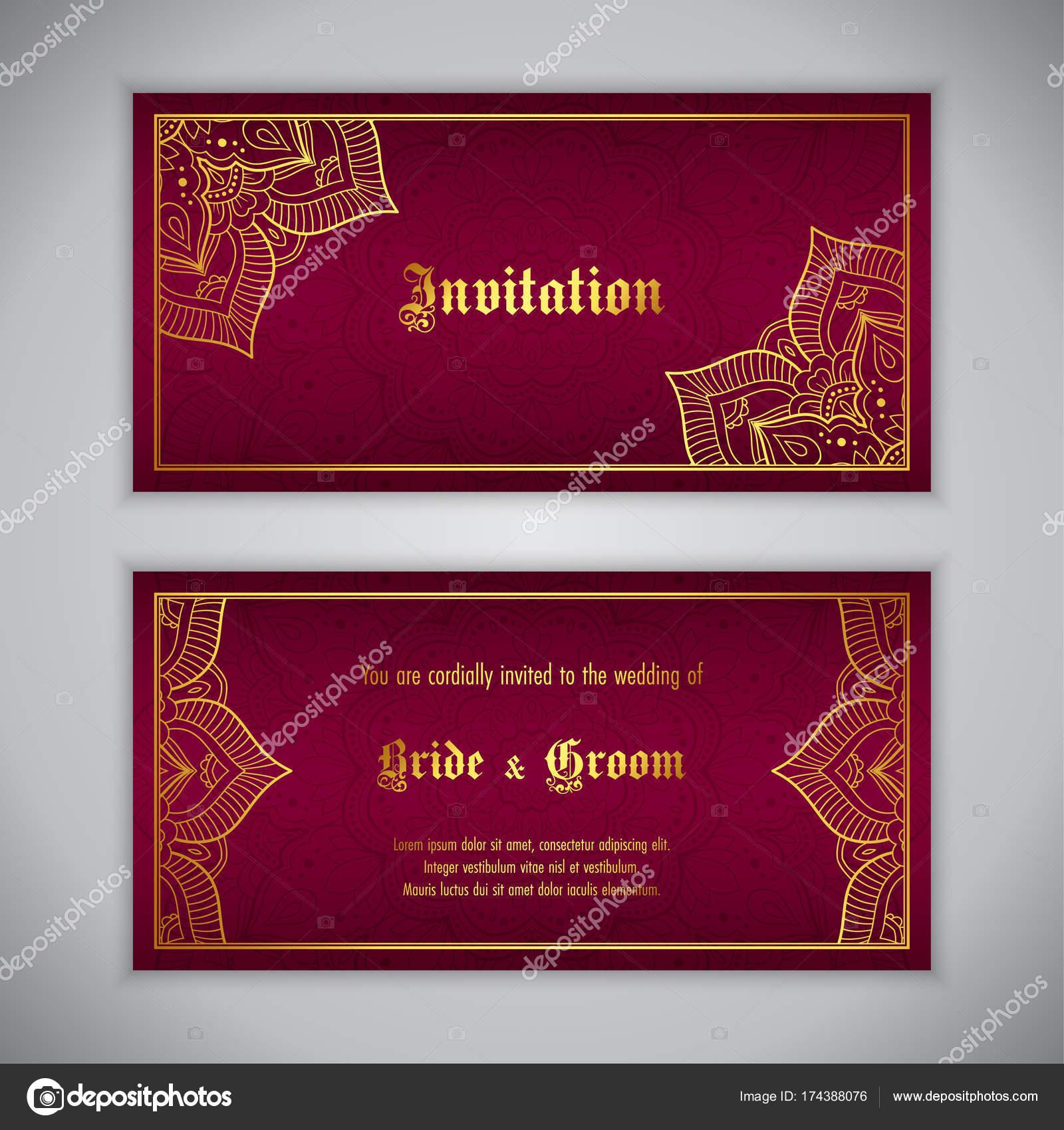 Luxury wedding invitation — Stock Vector © NonikaStar #174388076