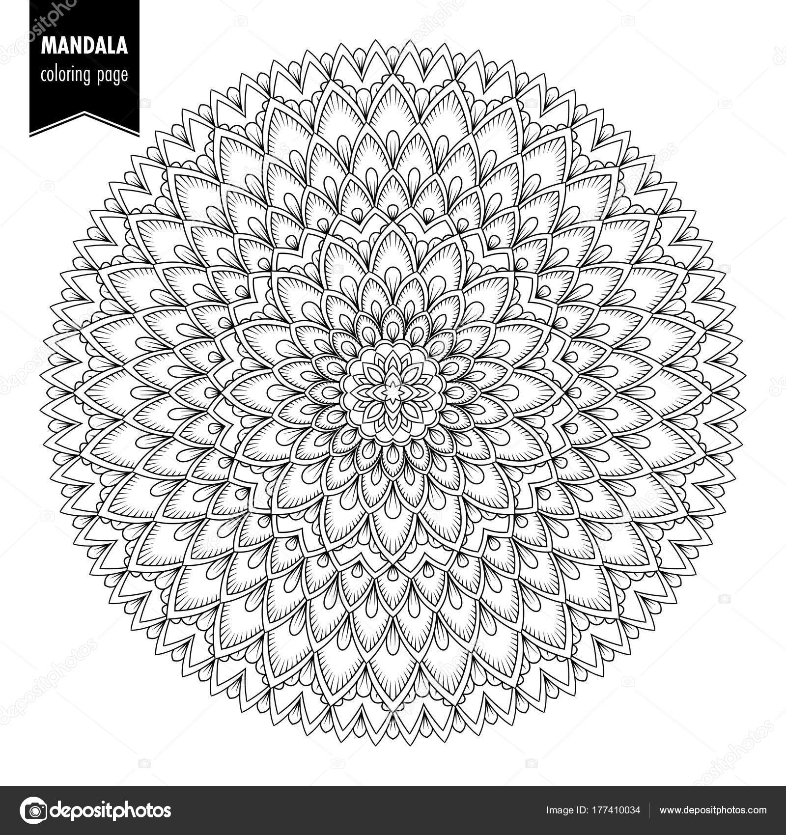 Kleurplaten Voor Volwassenen Mandala.Etnische Mandala Bw Stockvector C Nonikastar 177410034