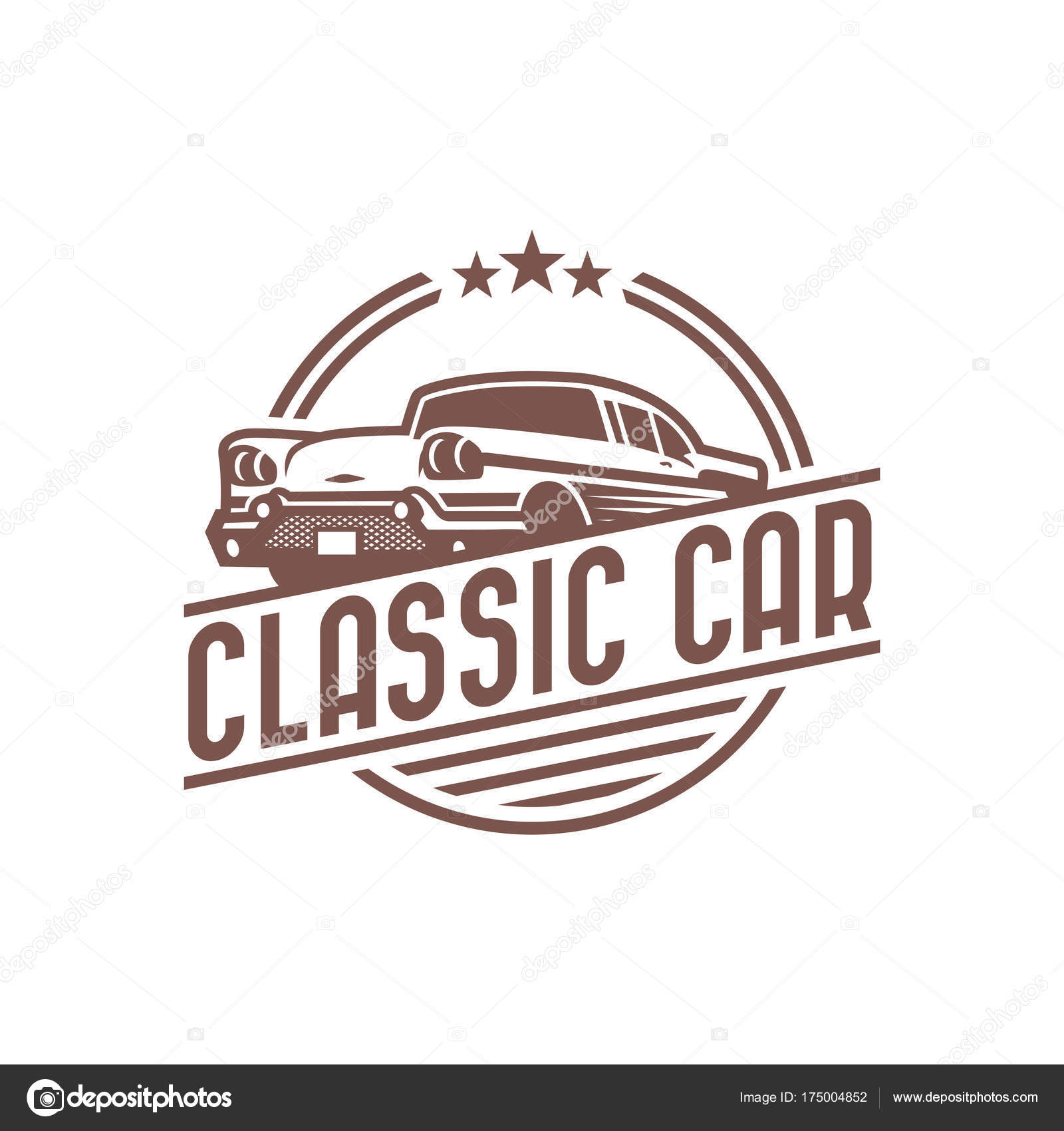 Classic Car Logo Template Vintage Car Logo Retro Car Logo Desi