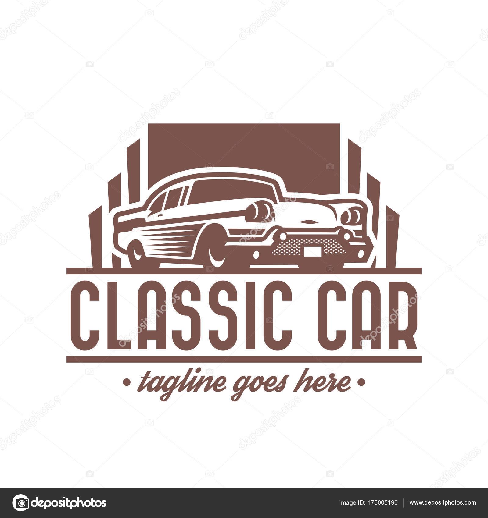 Classic Car logo template, vintage car logo, retro car logo desi ...