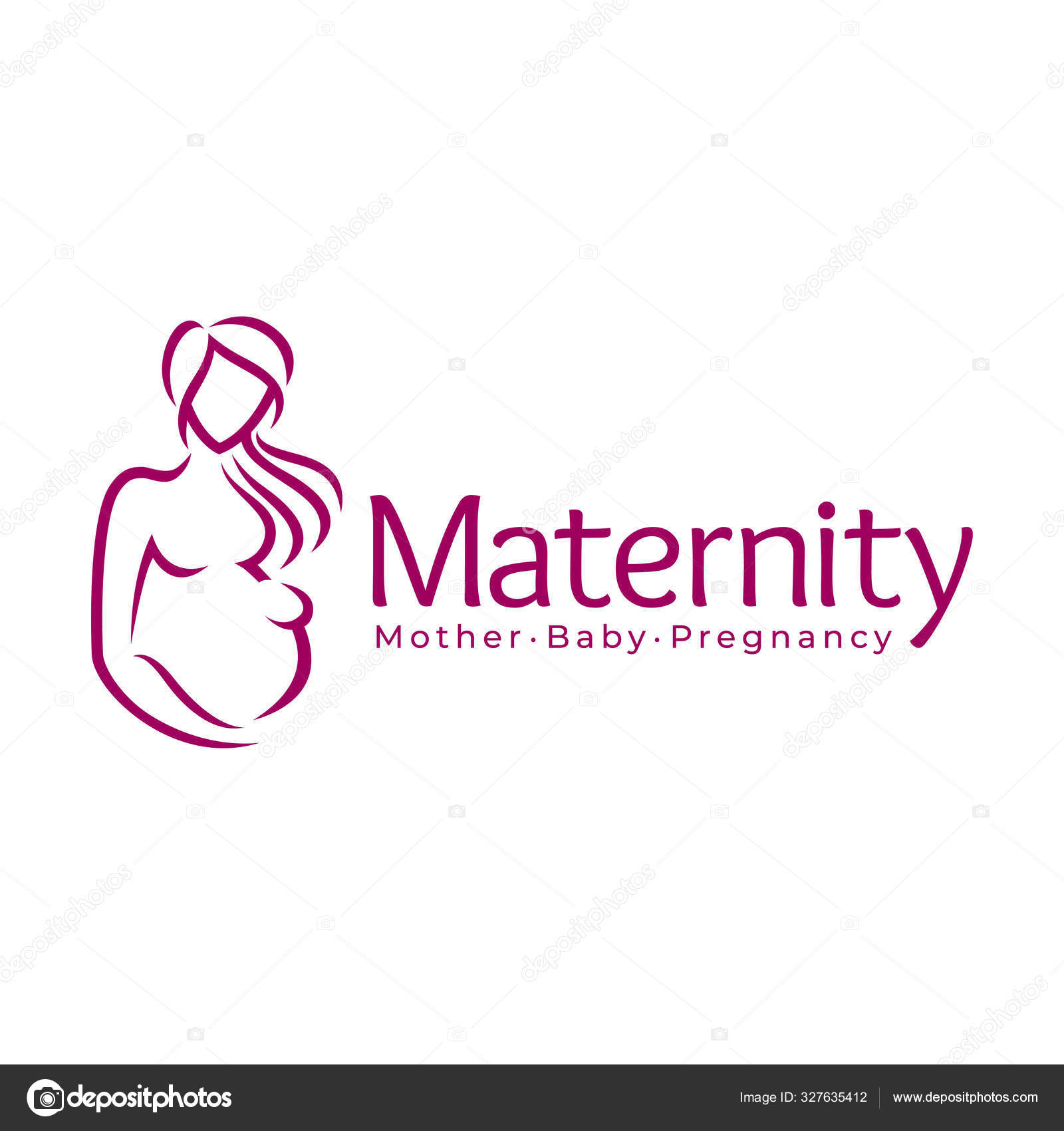 Maternity Logo Design Template Pregnancy Mother And Baby Symbol Or Icon Template Vector Image By C Ednalstudio Vector Stock 327635412