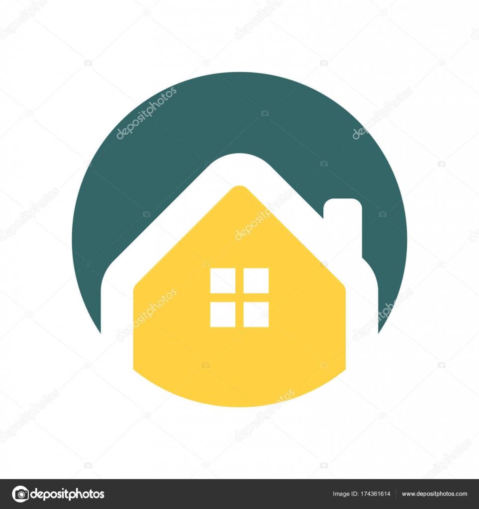 Minimalist House Circle Icon Stock Vector Svvell 174361614