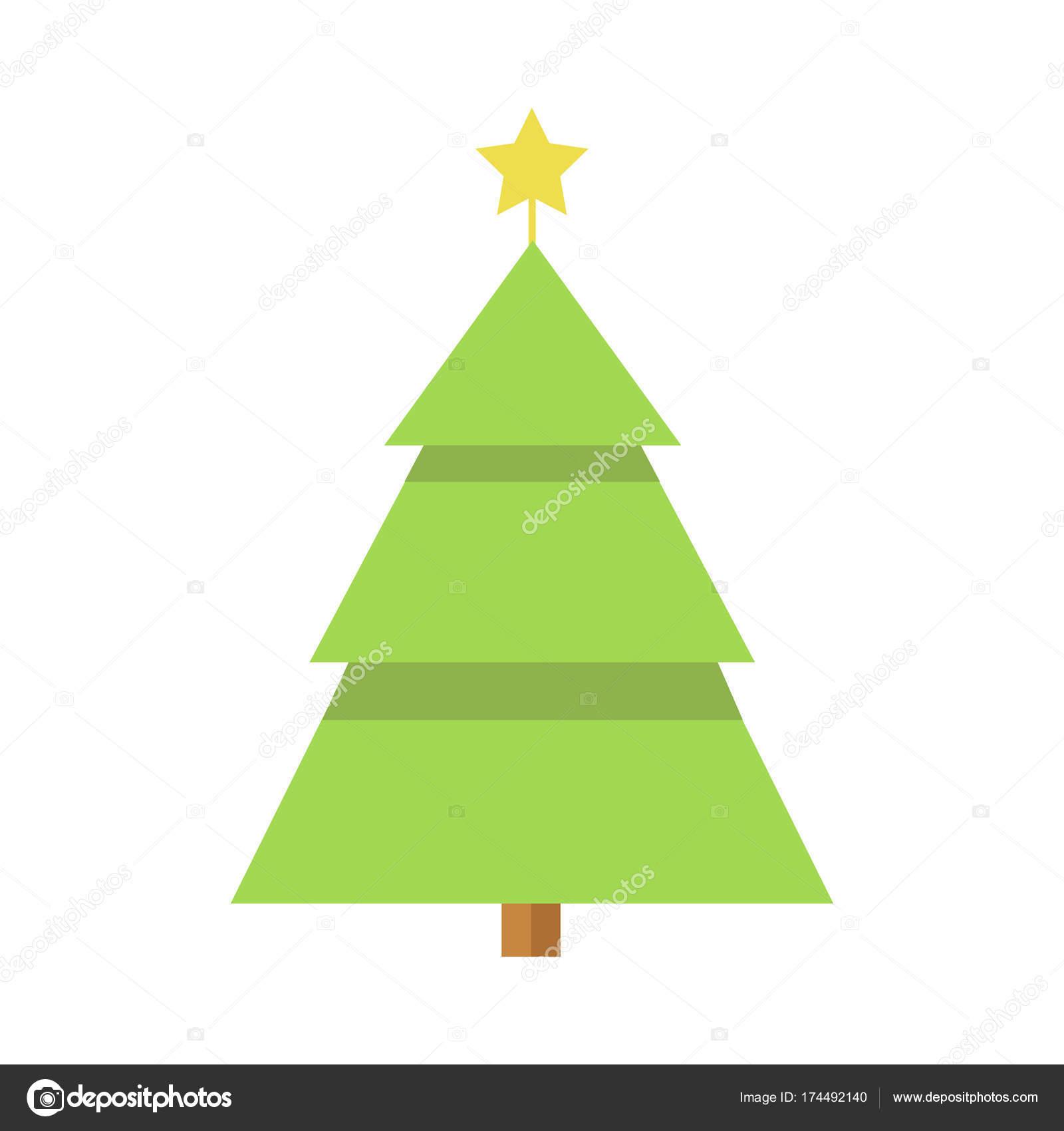 Pino De Navidad Estrellas Simples Dibujos Animados Archivo