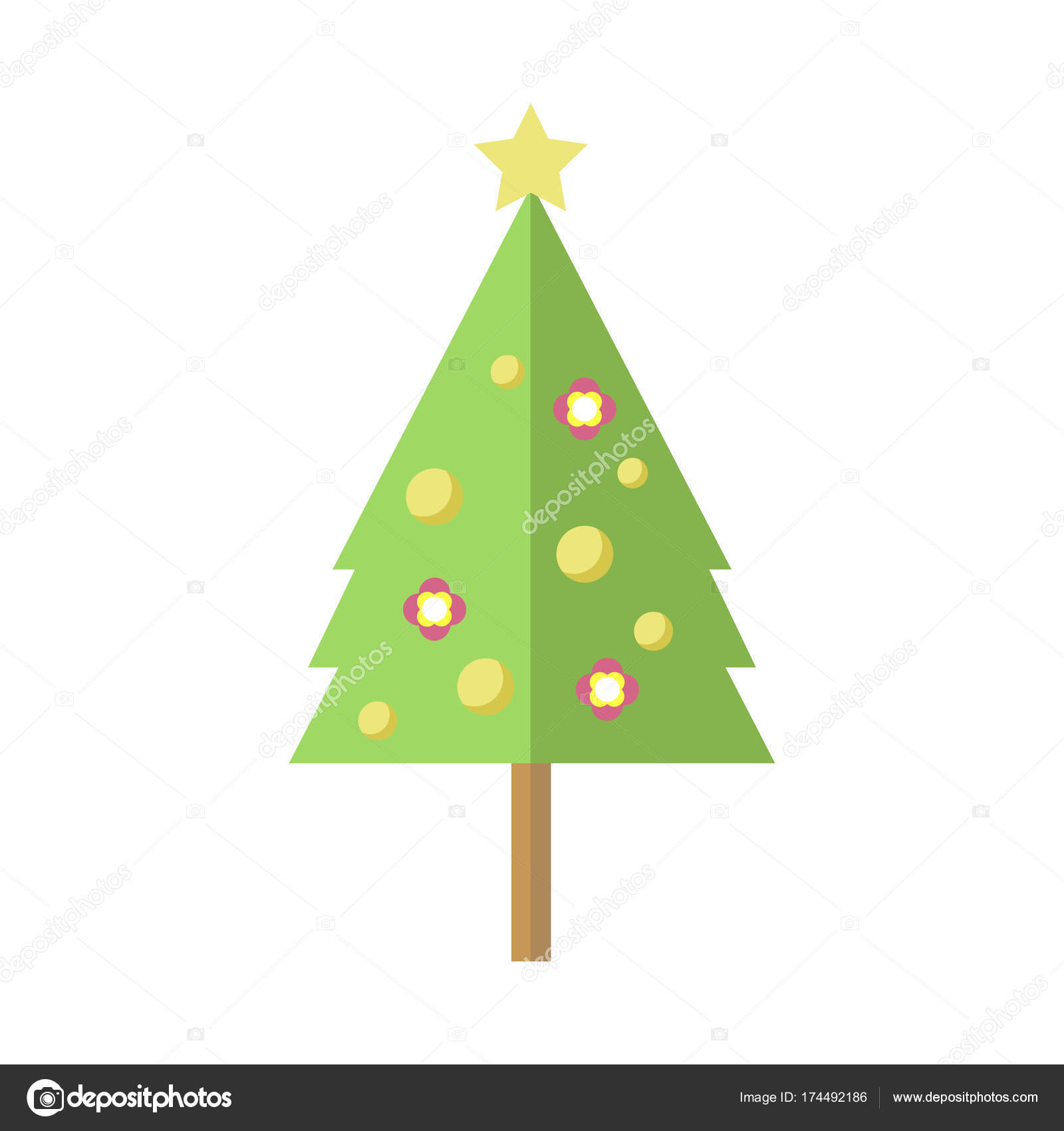 Dibujos Pino De Navidad Alto Decorado árbol De Pino De Navidad De