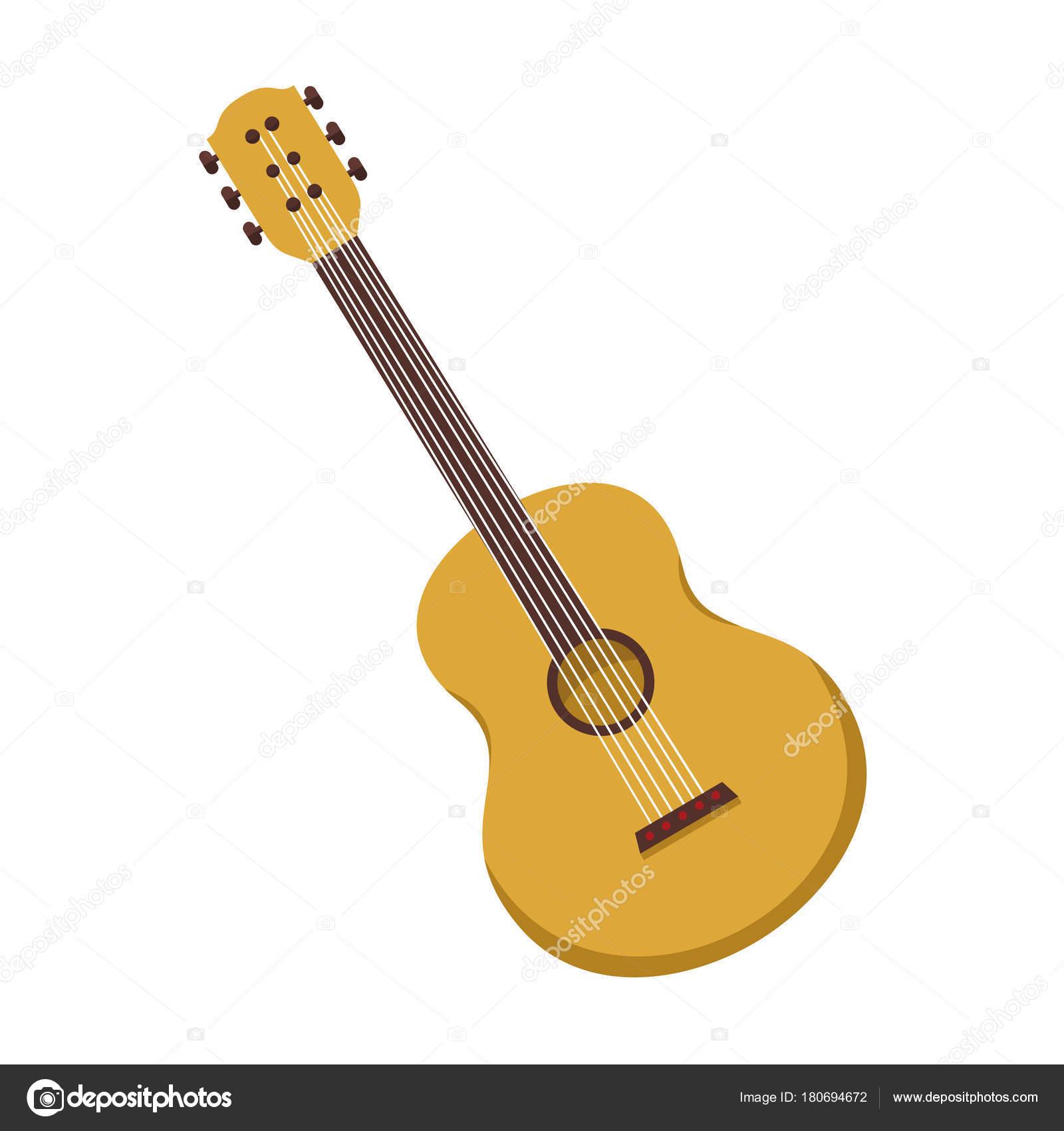 アコースティック ギターのシンプルなベクター イラスト グラフィック