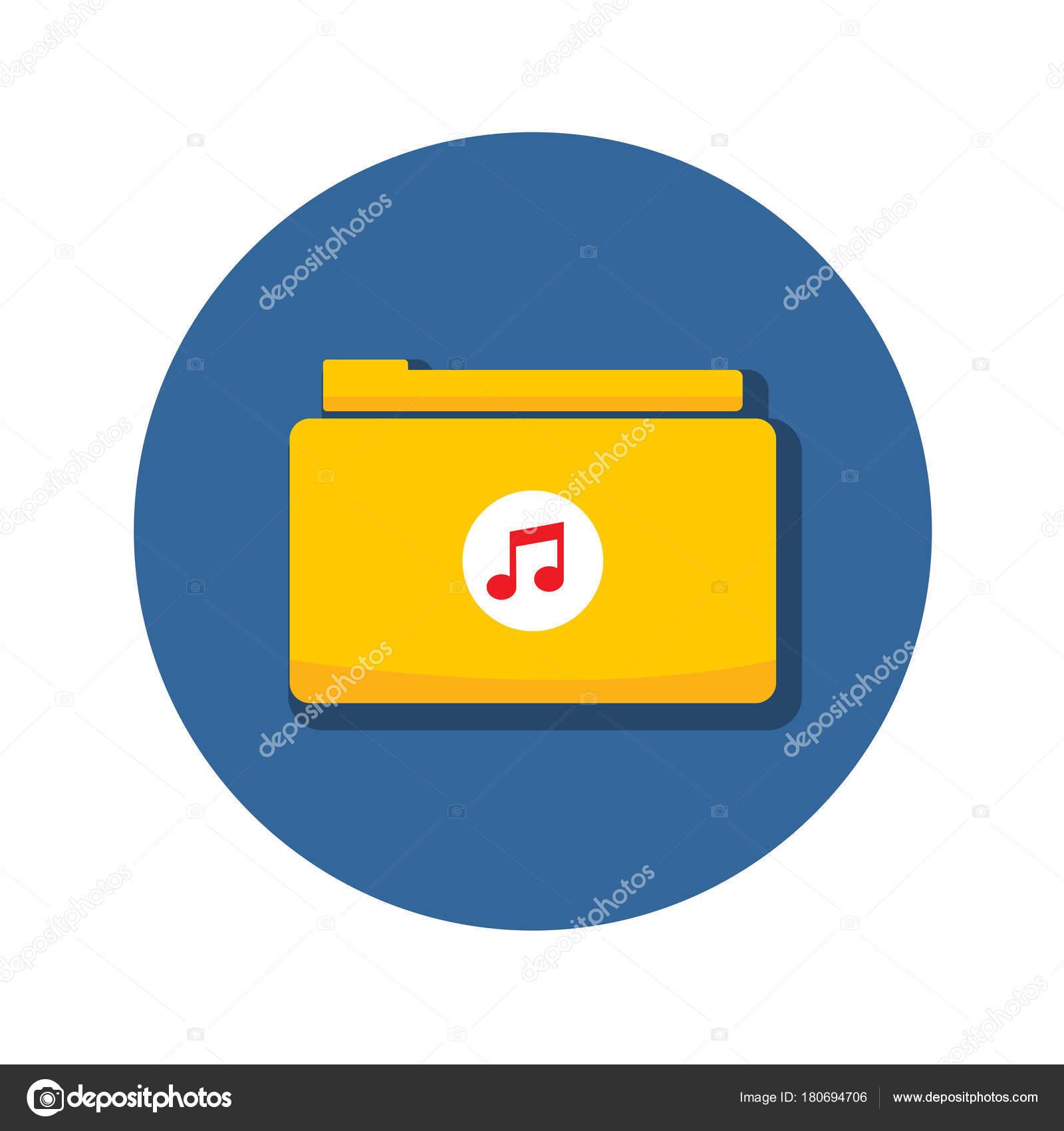 Audio Music Folder Archive Icon Vector Illustration Graphic