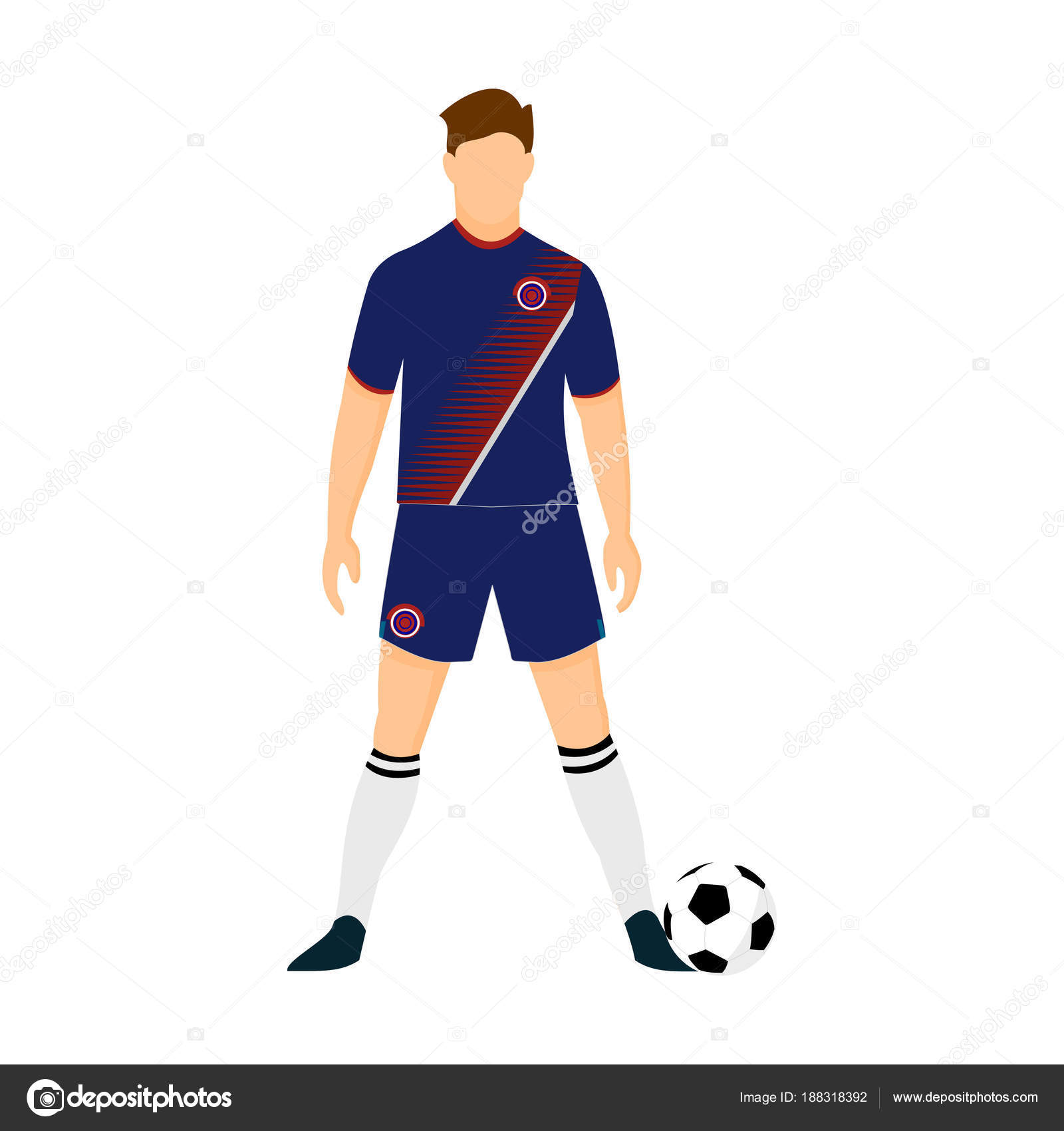 a37fa7b1dfc Costa Rica Football Jersey National Team World Cup Illustration — Stock  Vector