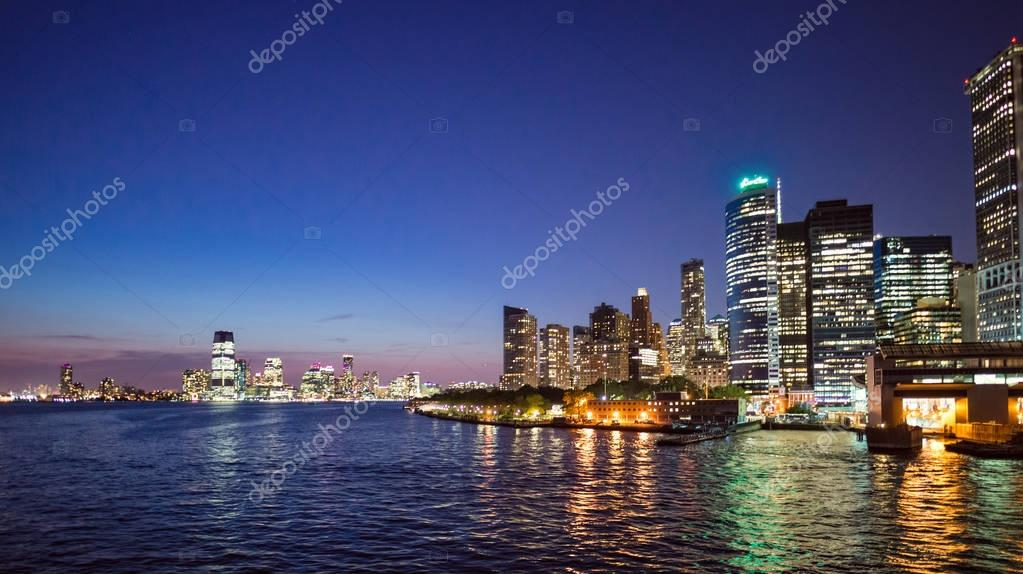 Фотообои amazing view of New York City Skyline at night