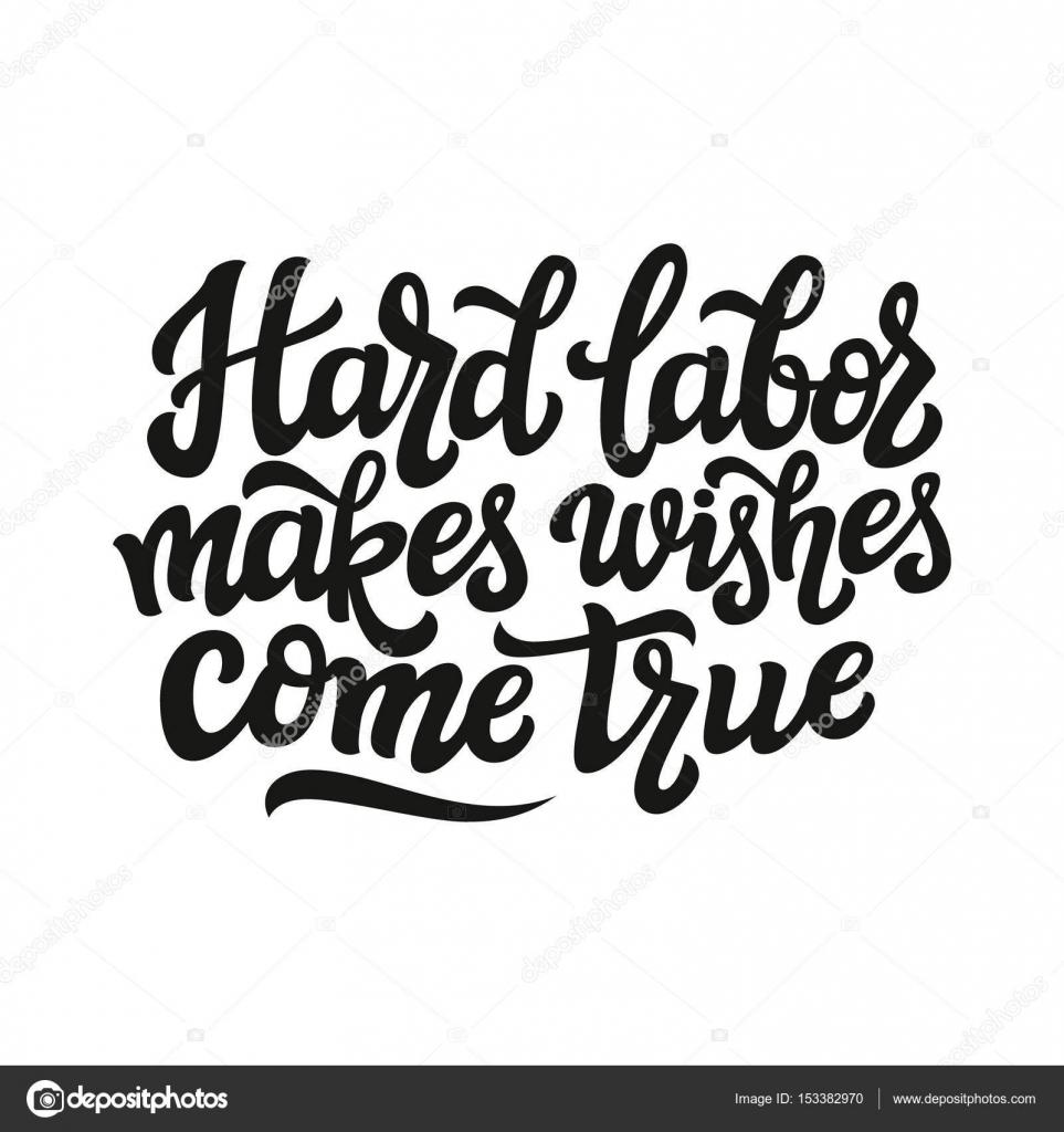 Harte Arbeit macht Wünsche wahr werden — Stockvektor © vicgripas ...