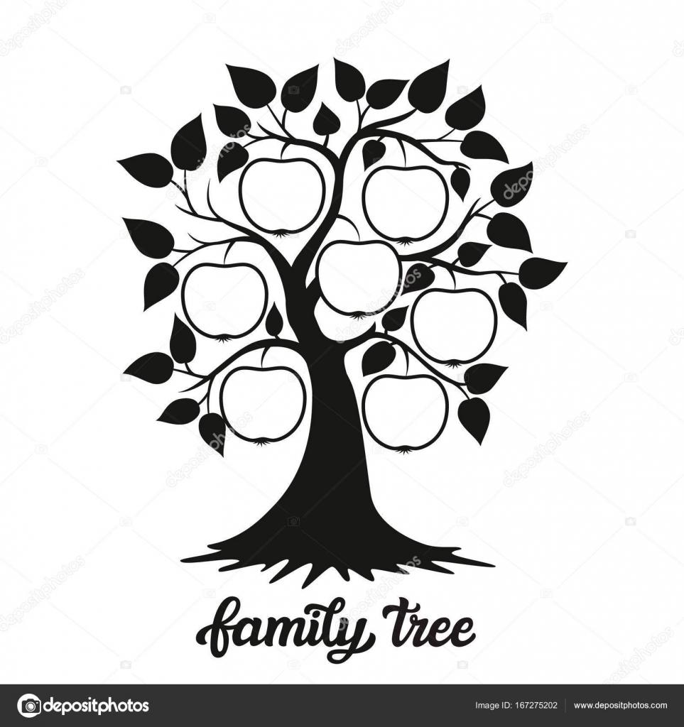 Aile Ağacı Illüstrasyon Bir Başlık Ile Stok Vektör Vicgripas