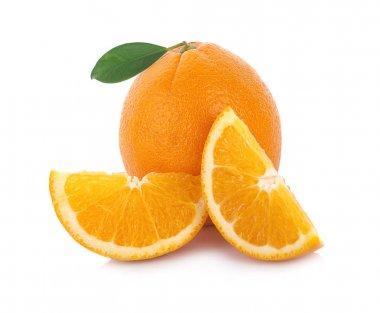 Orange slice isolated on white background