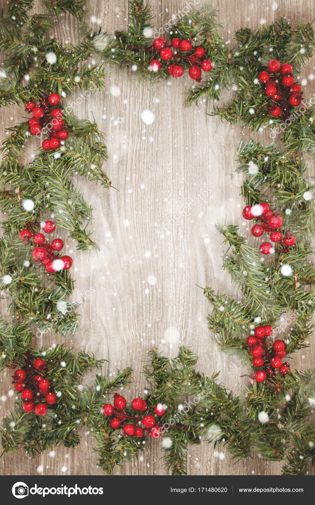 Christmas Wall Paper.Christmas Wallpaper With Snowflakes Stock Photo C Tchara