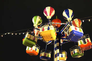 Christmas carousel at the Christmas fair in Moscow