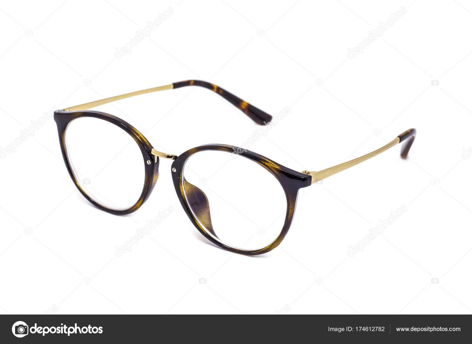 fa1aa67ffef60b Vintage Brille isoliert auf weißem Hintergrund — Stockfoto ...