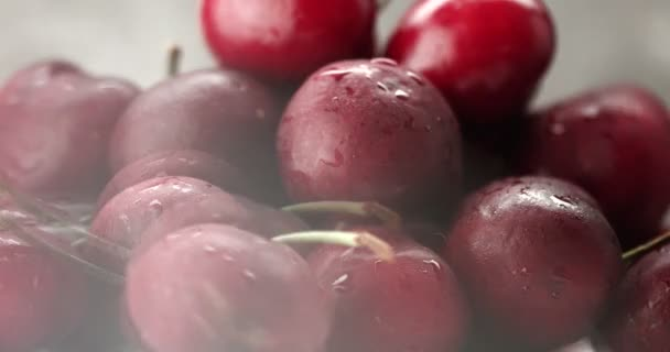 glossy cherries with a light effect on it