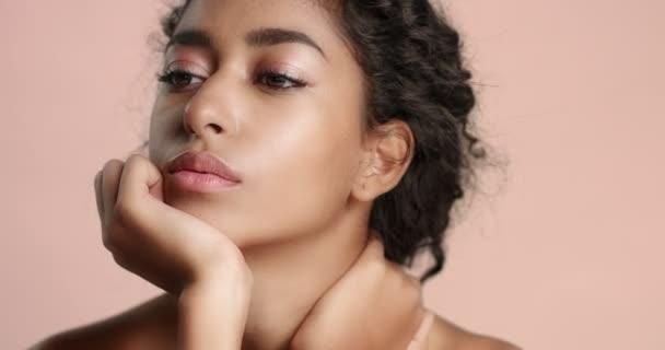 Beautiful Moroccan girl with perfect skin video