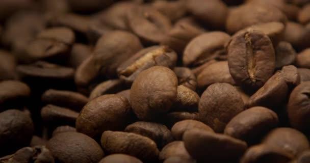 makro pádu kávových zrn