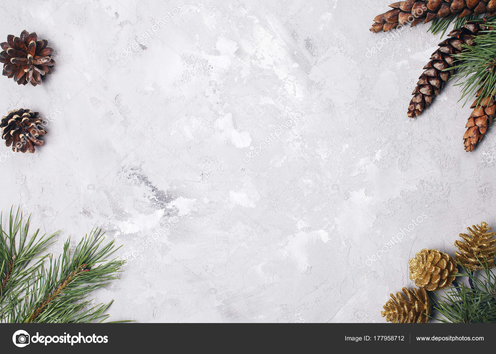 Weihnachten Hintergrund Mit Tannenzweigen Und Tannenzapfen ...
