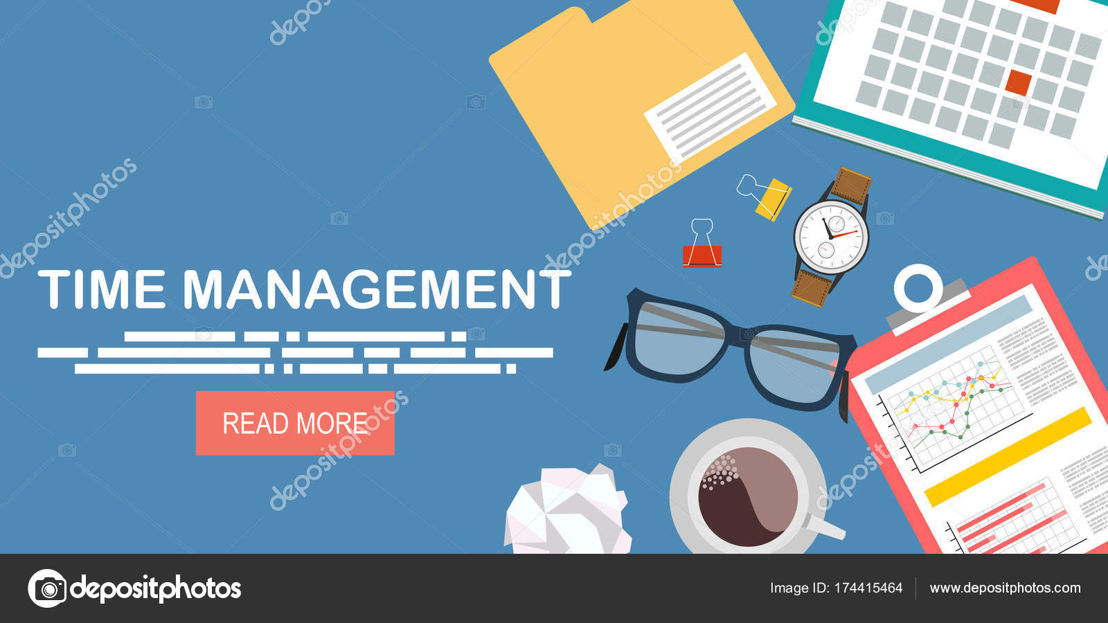 Time Management Banner Stock Vector C Nikvector20 Gmail Com 174415464